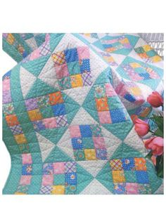 The Sweetie Pie quilt pattern is easy as pie and cute as a baby!