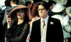 Dressed for rejection ... Kristin Scott Thomas and Hugh Grant both suffer unrequited love in Four Weddings and a Funeral. Photograph: Allstar/Cinetext/Channel 4