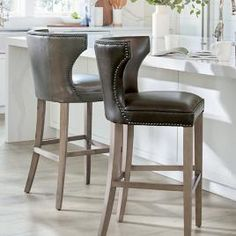 Raise the bar with our huge variety of barstools. Shop bar and counter stools in a ton of great styles. Swivel and backless stools in leather, wood and metal. Kitchen Counter Stools, Kitchen Chairs, Kitchen Decor, Bar Counter, Kitchen Counters, Diy Kitchen, Kitchen Ideas, Eames Chairs, Bar Chairs