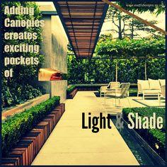 Creating shadows in a garden can be very exciting #shadow #gardendesign #pergola #texture #earthdesigns
