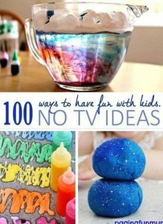 100 ways to have fun with kids no tv ideas