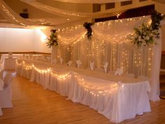Wedding Head Table and Backdrops. Elite Decor By Balloons of the Valley - Event Planners in Pembroke