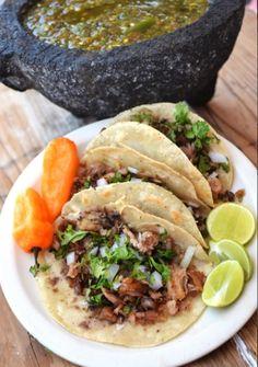 Tacos en Carnitas Campos Colonias #Tampico #Queretaro