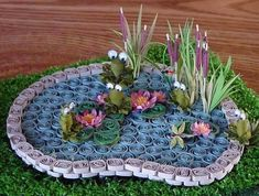 Quilled pond!..WHEN SOMEONE HAS THIS MUCH ARTISTIC ABILITY I APPLAUD THEM
