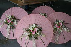 flower centre on parasol