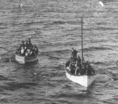 Two Titanic Lifeboats with Survivors