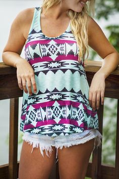 Tribal Print Tank | uoionline.com: Women's Clothing Boutique