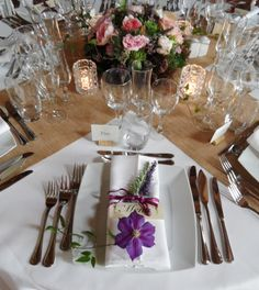 Tablescape from a French Old 'Chai' (Wine) Barn Wedding by Noble Nuptials