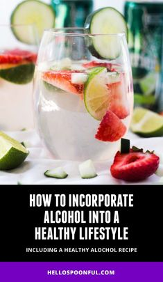 How to incorporate alcohol into a healthy lifestyle, a healthy cocktail recipe, low-calorie alcohols + how to lose weight while still drinking alcohol. Low Calorie Alcohol, Low Calorie Cocktails, Healthy Cocktails, Low Calorie Recipes, Light Alcoholic Drinks, Cocktail Recipes, New Recipes, Smoothies, Healthy Lifestyle