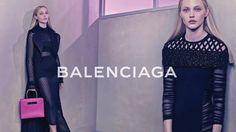 BALENCIAGA - SPRING/SUMMER 2015 Photo: Steven Klein Alexander Wang y su colección informal para Balenciaga, con sculptural mesh skirts en expresión total de modernismo. La campaña tiene como modelo a Sasha Pivovarova y fotografía de Steven Klein, estilismo por Panos Yiapanis, make up artist es Stephane Marais.