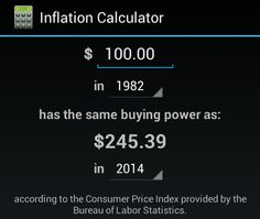 So before you get pissed about people wanting higher wages just look at inflation and this is only since 82 its actually a lot worse