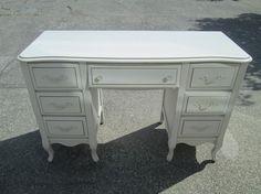 Would look nice in a girl's bedroom. Used Victoria, Solid Wood Desk, French Provincial, Girls Bedroom, Office Desk, Corner Desk, Furniture, Home Decor, Corner Table
