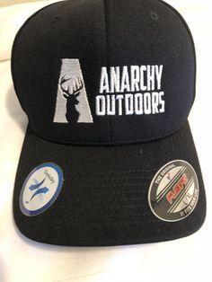 Anarchy Outdoors Hat Baseball Cap Flexfit L XL Men s Whitetail Buck Black   Flexfit   1cbd40539d1a