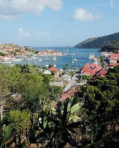 View looking over St. Jean harbor in St. Bart's