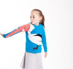 Witziger Pullover mit Pelikan, gute Laune Mode / fun kidswear: sweatshirt for kids with pelican print made by Luanimals via DaWanda.com