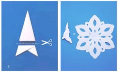 How To Cut and Create Beautiful Paper Snowflakes Christmas Time, Christmas Crafts, Christmas Decorations, Holiday, Christmas Things, Snowflake Craft, Paper Snowflakes, Fancy Fold Cards, Folded Cards