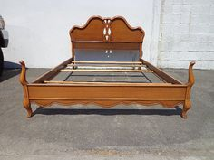French Provincial Bed Frame Bedroom Set Custom by DejaVuDecors.   A little frou frou and tall, etc but would go good with your chest/mirror....