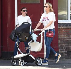 The old looked casual in a loose fitting white T-shirt and skinny jeans that showed off an already impressive post-pregnancy physique as she pushed the baby in hr native Liverpool. Alex Gerrard, Steven Gerrard, Post Pregnancy, Football Players, Liverpool, Family Photos, Baby Strollers, Sons, Skinny Jeans