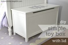 How to build a simple toy box with a lid including the hardware I used to avoid pinching those little fingers.