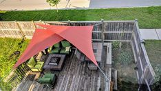 A Triangle Shade Sail is an excellent choice for those who have minimal attachment options, while still providing a beautiful and elegant shade solution. Backyard Shade, Patio Shade, Backyard Patio, Triangle Shade Sail, Sun Sail Shade, Shade Sails, Patio Sails, Sun Sails, Sail Canopies