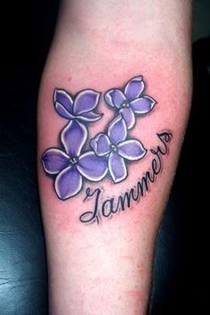 lilac flowers in Tattoos by Erika by Live Fast Die Young