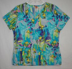 Women's Peanuts Woodstock Short Sleeve Scrub Top Small
