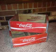 Coca Cola Coke Crates 2 FREE Shipping in 48 States by FireFly5Girl, $80.00