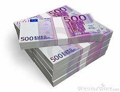 Stack of 500 euros