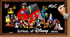 School Of Disney. Compilation of clip art, music lyrics, videos, screenshots, coloring pages to print! Puzzles games and more!