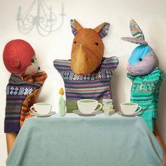 Cast of animal hand puppets (RHINOCEROS)