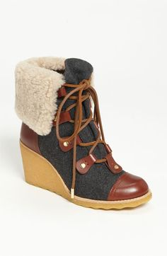 Tory Burch 'Marley' Wedge Bootie available at #Nordstrom