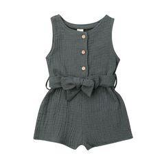 Baby Girls Smart Romper Suit Lace Front Short Cotton Bodysuit Plain 0-12 Months