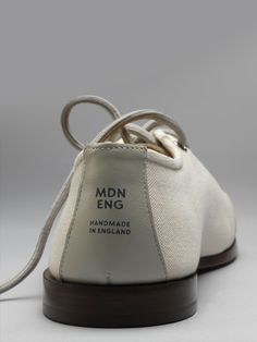 7f1945a00fd Modern English - Edition 1 Canvas Shoe - White Minimal Shoes