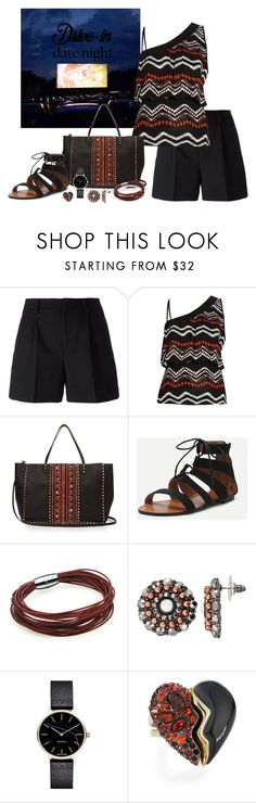 """""""Drive-In Date Night"""" by lwilkinson ❤ liked on Polyvore featuring Yves Saint Laurent, Morgan, Valentino, Gemma Simone, Myku, Alexis Bittar, DateNight, drivein and summerdate"""