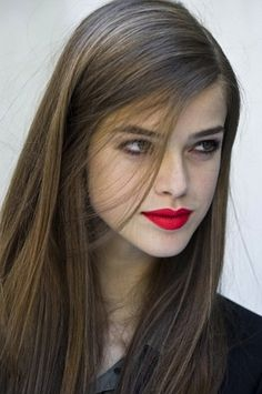 For a classic look try defined brows and a scarlet matte lip