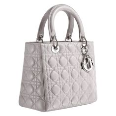 Lady Dior Cruise 2013 Collection    Lady Dior bag in mink-grey leather    #dolsboutique