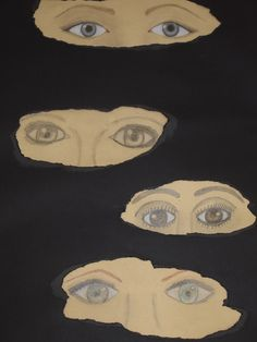 6 lk harjoitteli silmien piirämistä