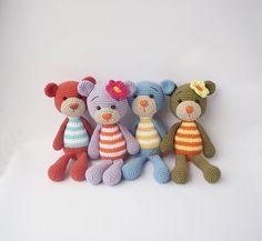 PDF Simple Bunny or Teddy Doll Crochet Toy par DuduToyFactory