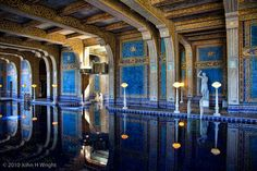Roman Pool at Hearst Castle, San Simeon, Ca Beautiful Pools, Beautiful Places, San Simeon California, Places Around The World, Around The Worlds, Places Ive Been, Places To Go, Roman Pool, Inside Pool