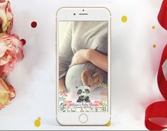 Panda Baby Shower Snapchat Geofilter for girls or boys. Watercolor Panda Snapchat Geofilter. Snapchat Geofilter. Panda Filter Snapchat, Panda Baby Showers, Phone Cases, Watercolor, Iphone, Handmade Gifts, Filter, Etsy, Girls
