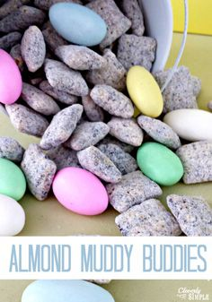 "This easy Easter day treat will have everyone asking for more.  Plus, find out how I ""tin"" them to make them cute name placements at your Easter table."
