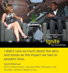 David Robinson, Hall of Fame Center, two-time NBA Champion and Founder of Admiral Capital Group, at the EY Strategic Growth Forum®, November 12-15, 2014 Palm Springs, California. #businessquotes #business
