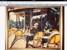 Diane in Paris Acrylic on canvas KManningArt