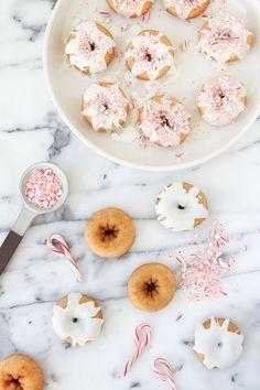 Candy Cane Mini Donuts