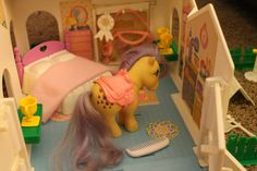 Vintage 80's My Little Pony Stable with Original by luvbabycakes81, $49.95