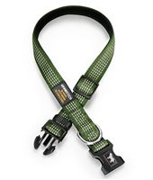 This Hunter Green Reflective Dog Collar is perfect for exploring, digging, and rustling through bushes!