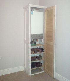 Boiler cupboard storage ideas Ideas for 2019 Airing Cupboard, Shoe Cupboard, Cupboard Storage, Kitchen Storage, Storage Spaces, Cupboard Ideas, Storage Ideas, Bathroom Cupboards, Kitchen Cabinet Doors