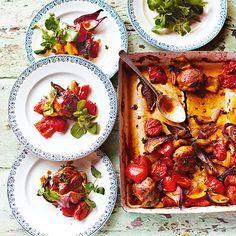 Jamie Oliver: kip uit de oven zonder omkijken, uit het kookboek 'bespaar met Jamie'. Kijk voor de bereidingswijze op okokorecepten.nl.