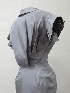 Dress, detail, 1952-53, Charles James, American, silk