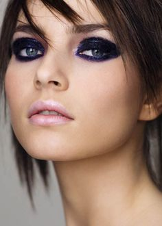 makeupartistsmeet: Deep purple eye makeup and pastel lips. Makeup: Letizia Carnevale Photographer/Model/Hair: Unknown